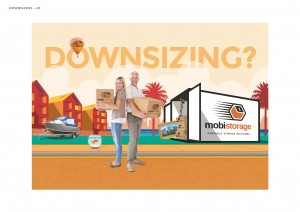downsizing and decluttering mobistorage self storage is a great solution.