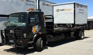 Secure Truck Parking is available at Mobistorage in Welshpool